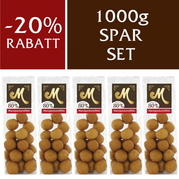 Spar Set Edelmarzipan Kartoffeln 1000g