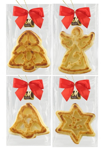Marzipan Christmas decoration flamed 4 pieces