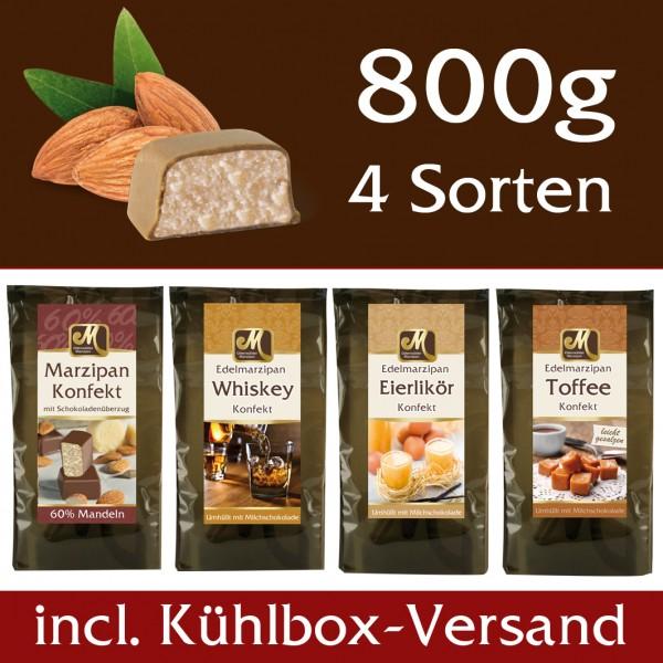 Marzipankonfekt Set 4 Sorten Kühlbox Versand