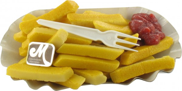 Pommes Frites in der Schale