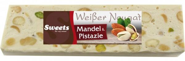 Weißer Nougat mit Pistazien & Mandeln