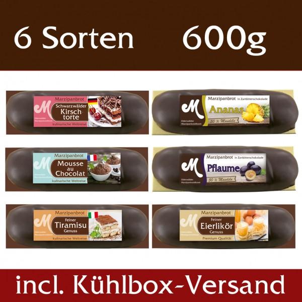Genuss Set Marzipanbrote 6 Sorten incl. Kühlbox Versand