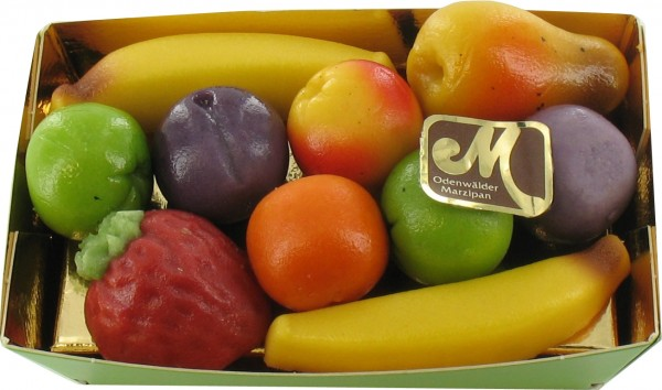 Marzipan Früchte in Präsentschachtel