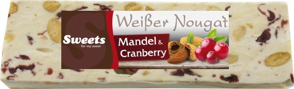 White Nougat with cranberry and almond