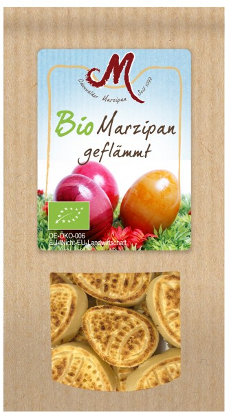 BIO Marzipan Eier abgeflämmt 200g