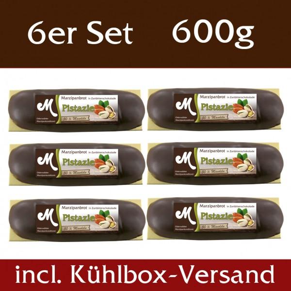 Pistazien Marzipanbrote 6er Set - incl. Kühlbox Versand