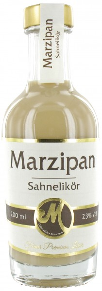 Marzipan Sahnelikör 0,2l Flasche 23% vol