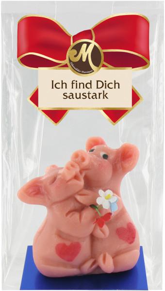 Küssendes Schweinepaar