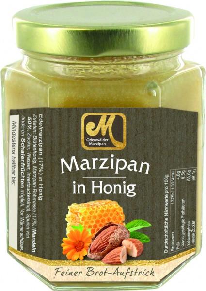 Honig mit Marzipan verfeinert im Glas 220g