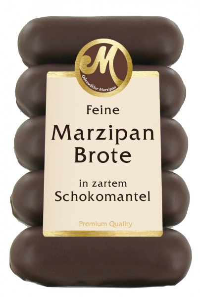 Marzipan loaf with bitter sweet chocolate
