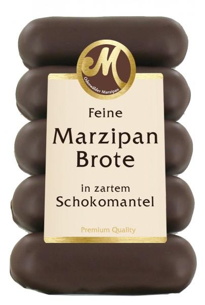 5 Marzipanbrote mit Zartbitterschokolade